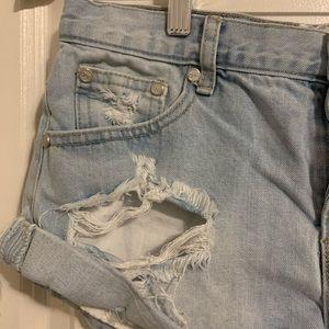One Teaspoon Shorts - ONETEASPOON BANDITS DENIM High Rise SIZE M
